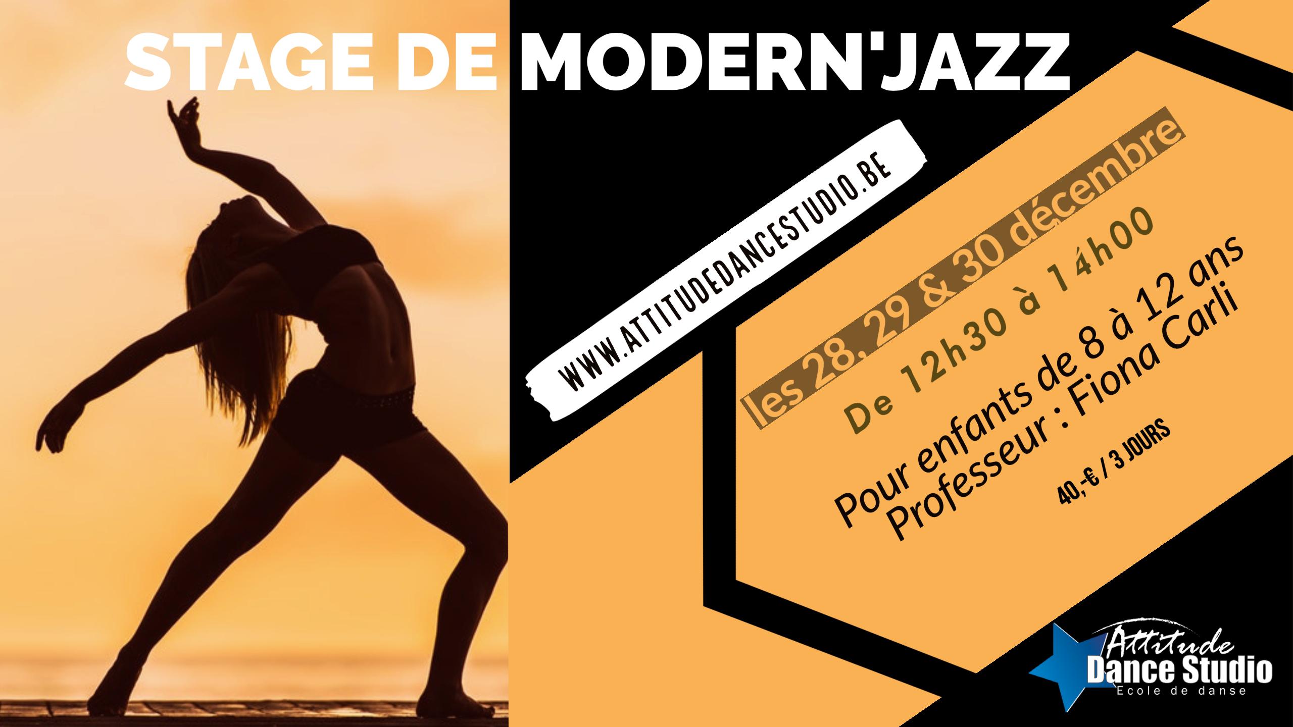 Stage decembre Modern'Jazz